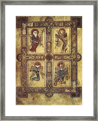 Book Of Kells. 8th-9th C. Fol.27v Framed Print
