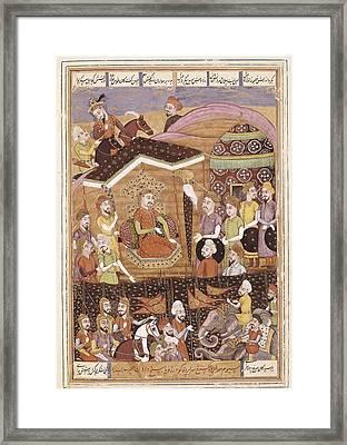 Book Of Kings. 16th C. Ferdowsis Book Framed Print by Everett