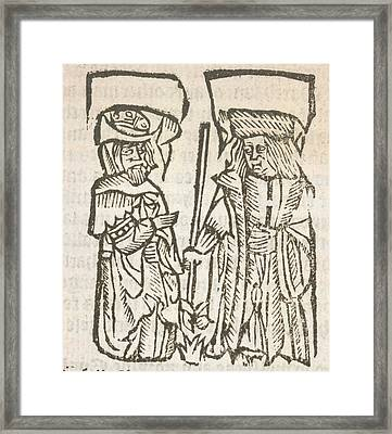 Book Of Knowledge Framed Print by British Library