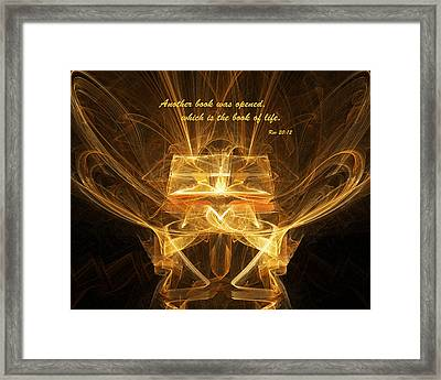 Book Of Life Framed Print by R Thomas Brass