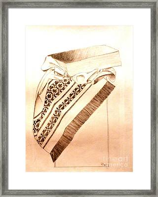 Book On Traditional Carpet Framed Print by Olga R
