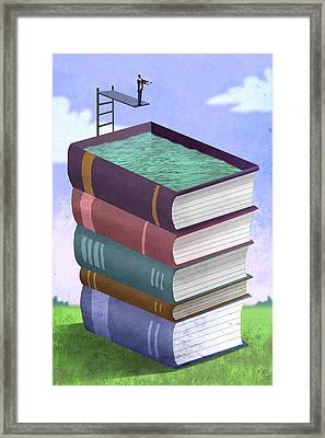 Book Pool Framed Print