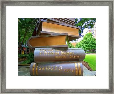 Book Sculpture 1 Framed Print by Ron Kandt