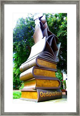 Book Sculpture 2 Framed Print by Ron Kandt