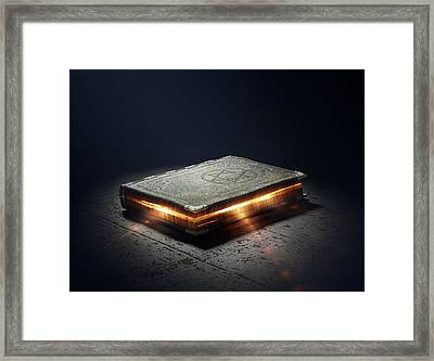 Book With Magic Powers Framed Print by Johan Swanepoel