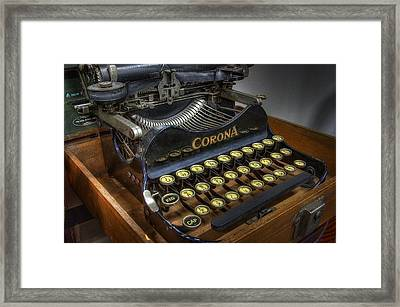 Book Writer Framed Print by Daniel Hagerman