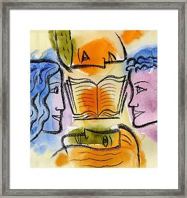 College Framed Print by Leon Zernitsky