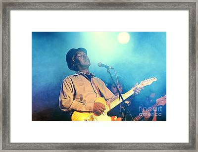 Booker T Jones Us Blues Singer Musician Performing At Maryport Blues Festival  2010 England Framed Print by David Lyons