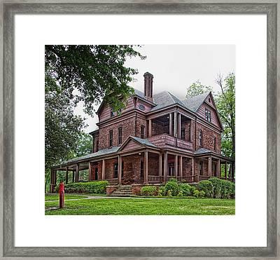 Booker T Washington Home - Tuskegee Alabama Framed Print