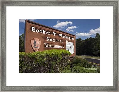 Booker T. Washington National Monument Framed Print