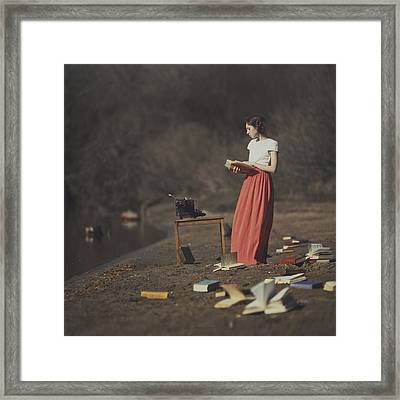 Books Framed Print by Anka Zhuravleva