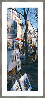 Books At A Stall With Basilique Du Framed Print