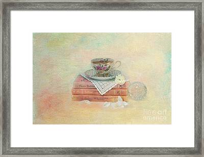 Books From Childhood Framed Print by Kay Pickens