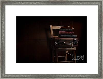 Books In The Attic Framed Print