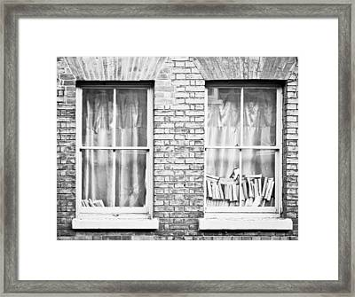 Books In The Window Framed Print
