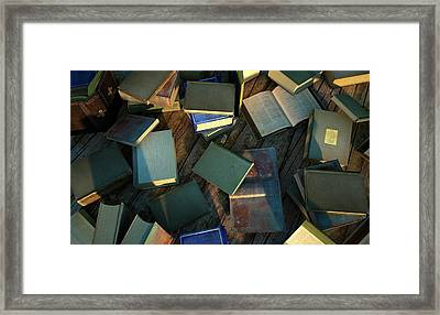 Books Framed Print by Leonello Calvetti