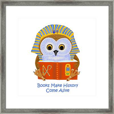 Framed Print featuring the painting Books Make History Come Alive by Leena Pekkalainen