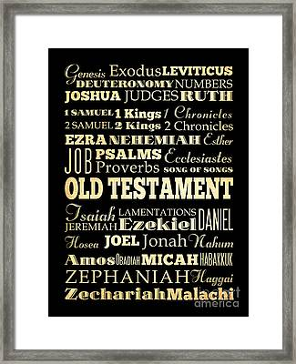 Books Of Old Testament Framed Print