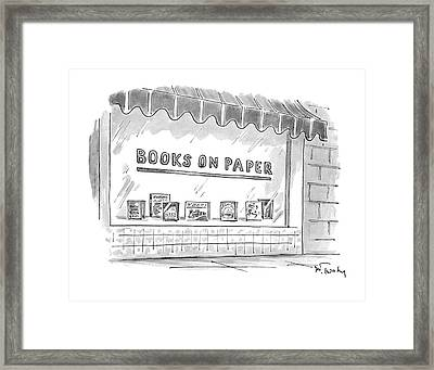 'books On Paper' Framed Print by Mike Twohy