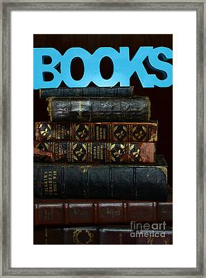 Books Framed Print by Paul Ward
