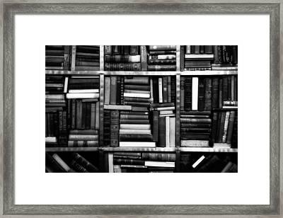 Books Framed Print by Takeshi Okada