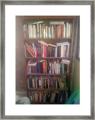 Bookshelf Framed Print by Unique Consignment