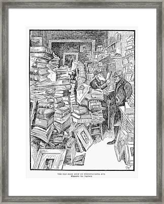 Bookshop, 1902 Framed Print by Granger