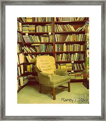 Bookstore Nook Framed Print by Lorraine Heath