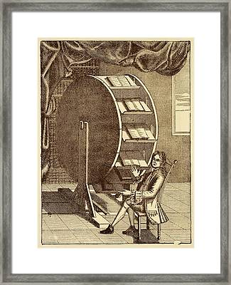 Bookwheel Illustration. Framed Print by David Parker