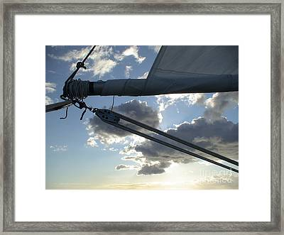 Boom And Sky Framed Print