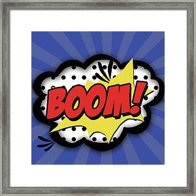 Boom Framed Print by Anna Quach