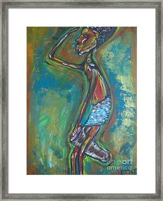 Framed Print featuring the painting Boom Boom by Lucy Matta