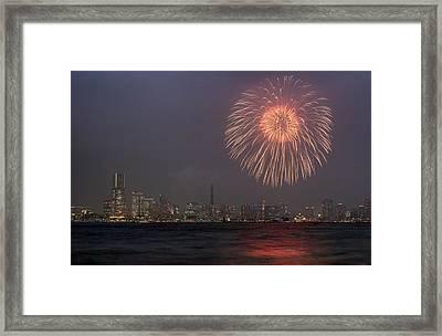 Boom In The Sky Framed Print by John Swartz