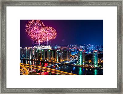 Boom Over The City Framed Print by Keith Homan