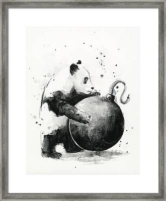 Boom Panda Framed Print by Olga Shvartsur