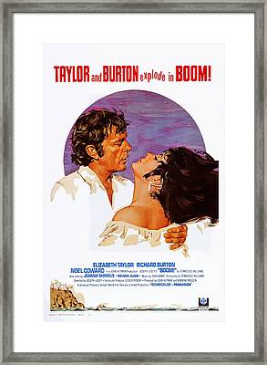 Boom, Us Poster, Richard Burton Framed Print by Everett