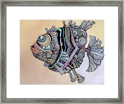 Boomer The Fish Framed Print by Iya Carson