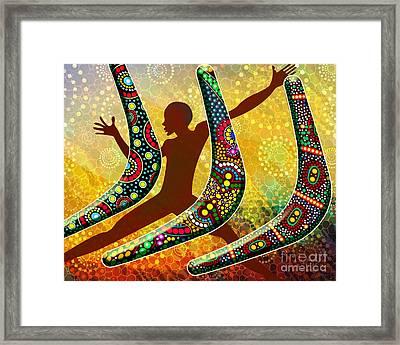 Boomerang 1 Framed Print by Bedros Awak