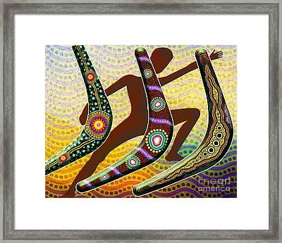 Boomerang 2 Framed Print by Bedros Awak