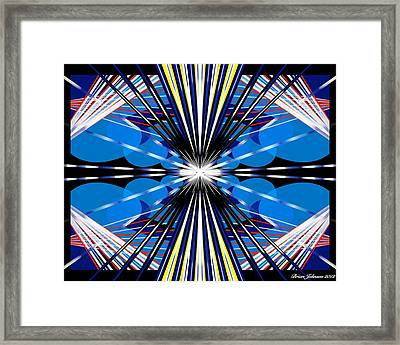 Framed Print featuring the digital art Boomerang by Brian Johnson