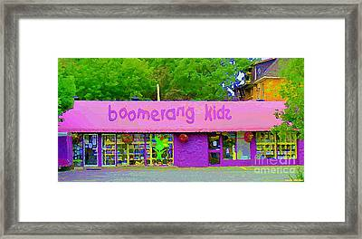 Boomerang Kids Baby Store Kiddies Clothing Consignment Shop The Glebe Paintings Of Ottawa C Spandau Framed Print by Carole Spandau