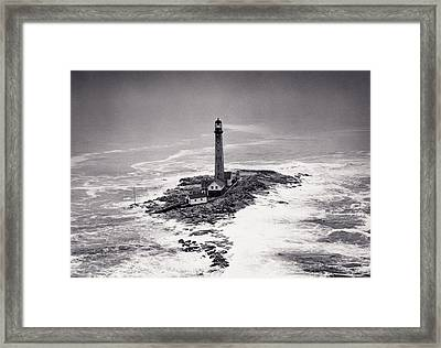Boon Island Light Tower Circa 1950 Framed Print by Aged Pixel