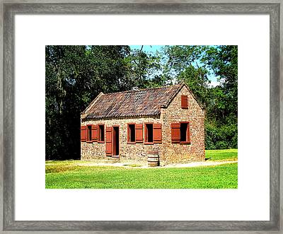 Boone Hall Plantation Slave Quarters Framed Print