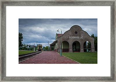 Framed Print featuring the photograph Boonville Depot by Wayne Meyer