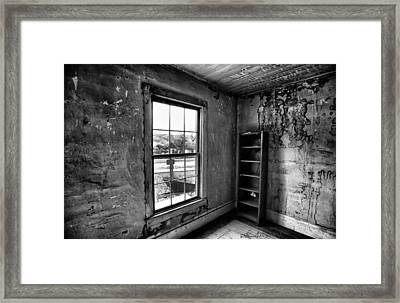Boo's Room - Black And White Framed Print