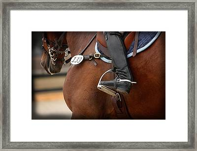 Boot And Spur Framed Print