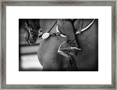 Boot And Spur Monochrome Framed Print