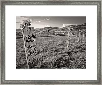 Boot Hill - Virginia City - Montana Framed Print