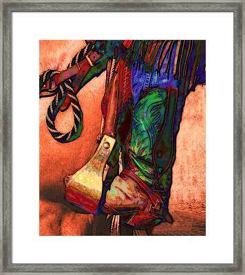 Boot Framed Print by Kae Cheatham