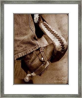 Boot N Stirup Framed Print by Bill Keiran